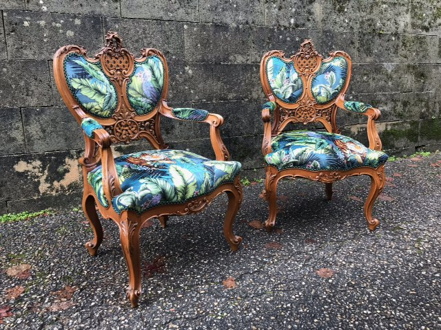 fauteuils tissu tigre